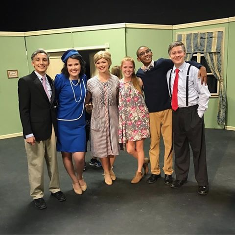 Adam Parbhoo, Jenna Klein, Abigale Montgomery, Sydney Wakeford, Jaden Jackson, and MJ Smith pose for a picture after a wonderful opening night