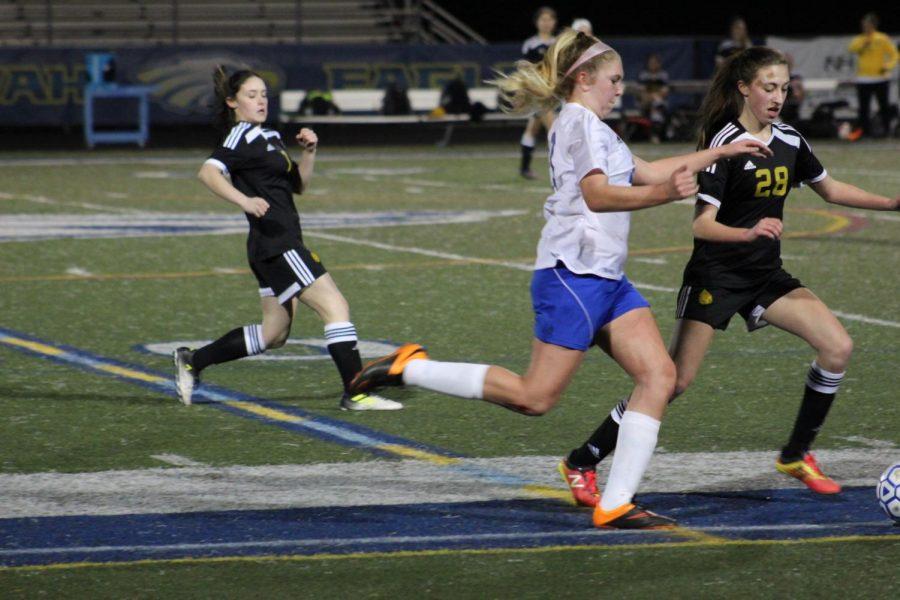 The first JV Girls Soccer game