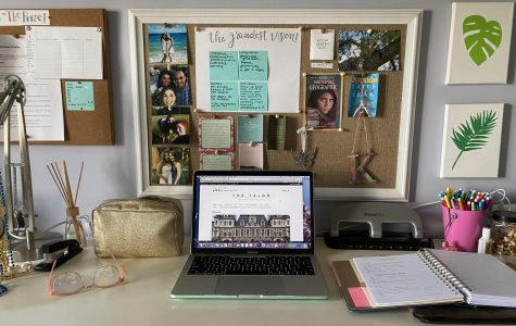 Having a designated workspace for school can help increase productivity.