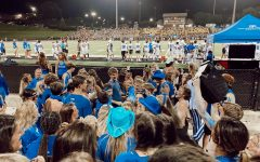Showing out at the blue out